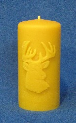 Deer Pillar Candle Mould
